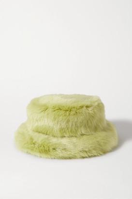 Emma Brewin - Faux Fur Bucket Hat - Light green