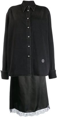MM6 MAISON MARGIELA Layered Denim Shirt Midi Dress