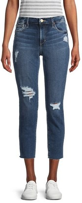 Joe's Jeans Distressed Cropped Slim-Fit Jeans