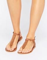Boohoo Plaited Toe Post Flat Sandal