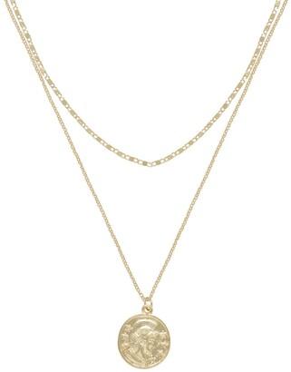 Ettika Gold Tone Coin & Chain Layered Necklace