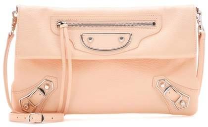Balenciaga Classic Metallic Edge Envelope leather shoulder bag
