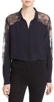 The Kooples Women's Silk & Lace Shirt