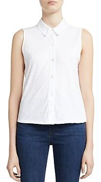 Theory Cotton Sleeveless Shirt