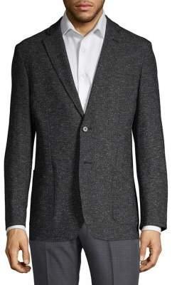 Karl Lagerfeld Paris Marled Notch Lapel Sportcoat