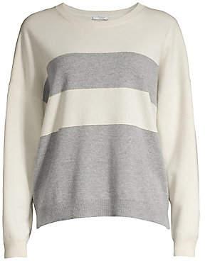 Peserico Women's Long-Sleeve Striped Wool, Silk & Cashmere Sweater
