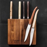 Laguiole en Aubrac 6-Piece Mixed Wood Steak Knives, Acacia Block