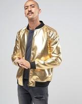 Liquor & Poker Gold Bomber Jacket