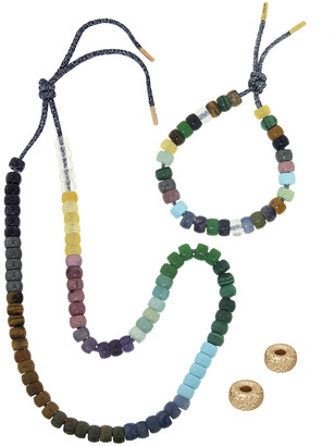 Carolina Bucci FORTE Beads Moonbow Storm Necklace and Bracelet Kit - Yellow Gold
