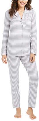 Alfani Super Soft Printed Long-Sleeve Top & Pajama Pants Set