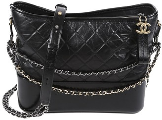 Chanel Black Quilted Leather Medium Gabrielle Hobo Bag