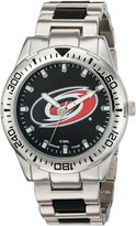 Game Time Men's NHL-HH-CAR Heavy Hitter Analog Display Japanese Quartz Silver Watch