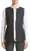 Lafayette 148 New York Women's Bailey Alpine Outerwear Vest With Flannel Back