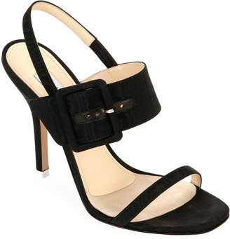 ATTICO Mariah Fabric Buckle Sandals