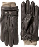 Brown Leather Cuffed Gloves