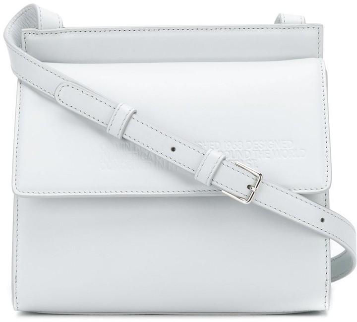 Calvin Klein embossed flap cross-body bag