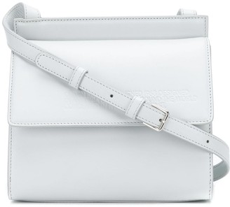 Calvin Klein embossed flap cross-body bag
