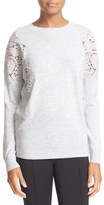 Ted Baker Lace Shoulder Crewneck Sweater
