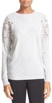 Ted Baker Women's Lace Shoulder Crewneck Sweater