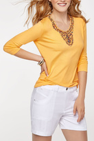 Tribal Beaded V-Neck Mango Top