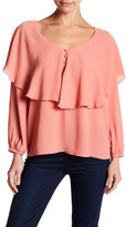Blvd Scoop Neck Ruffle Shirt