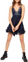 Free People Adella Burnout Lace Mini Dress