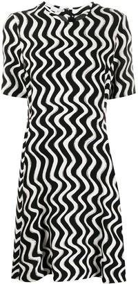 Stella McCartney Wave Print Short-Sleeve Dress