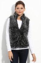 Faux Fur Short Vest (Petite)