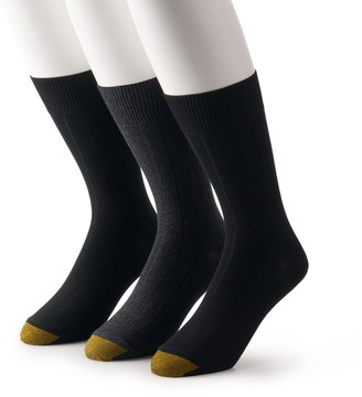 Gold Toe Men's GOLDTOE 3-pack Nantucket Crew Dress Socks