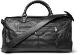 Balenciaga - Squash Creased-leather Holdall