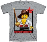 Lego Boys' Minifigure T-Shirt - Gray