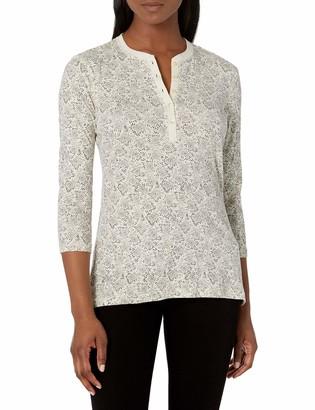 Chaps Women's Petite 3/4 Sleeve Crewneck Henley Shirt