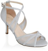 Paradox London Helka Silver Extra Wide Fit Ankle Strap Sandals