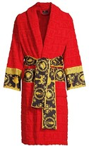 Thumbnail for your product : Versace Logo Toweling Baroque Bathrobe