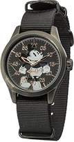 Ingersoll Disney Women's Quartz Watch with Black Dial Analogue Display and Black Nylon Strap DIN008BKBK