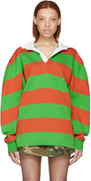 Marc Jacobs Green & Orange Rugby Polo