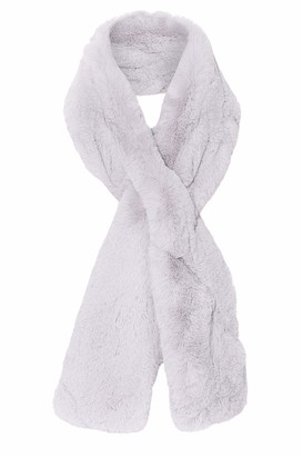 Jayley Collection JAYLEY Faux Fur Scarf snow grey One Size