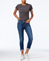 7 For All Mankind Josephina Ripped Straight-Leg Jeans, Medium Melrose Wash