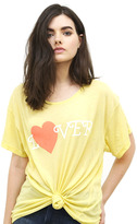 Wildfox Couture Hello Lover Manchester Tee in Golden Era