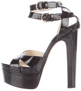 Brian Atwood Patent Leather Platform Sandals
