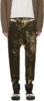 11 By Boris Bidjan Saberi Green Camo Wash Sarouel Lounge Pants