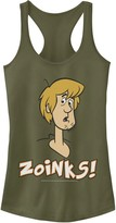"""Scooby-Doo Licensed Character Juniors' Shaggy Confused """"Zoinks"""" Graphic Tank"""