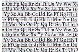SugarBooger by O.R.E. Tabletop Splat Mat - Vintage Alphabet