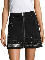 The Kooples Washed Out Denim Skirt