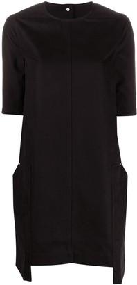 Rick Owens short sleeve panelled T-shirt dress