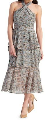 Sam Edelman Printed Tiered Midi Dress