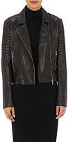 L'Agence Women's Leather Mercer Jacket-BLACK