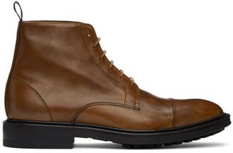 Paul Smith Tan Cubitt Wingtip Boots