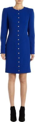 Ungaro Square Buttoned Padded Shoulder Dress
