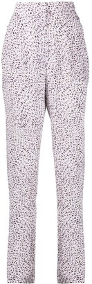 Lala Berlin Leopard Print High Rise Trousers